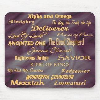 at the name of Jesus... Mouse Pad
