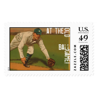 At The Old Ball Game Postage Stamps