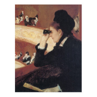 At the Opera by Mary Cassatt Vintage Impressionism Post Card