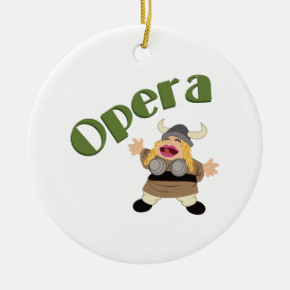 At The Opera Double-Sided Ceramic Round Christmas Ornament