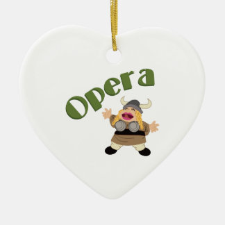 At The Opera Double-Sided Heart Ceramic Christmas Ornament