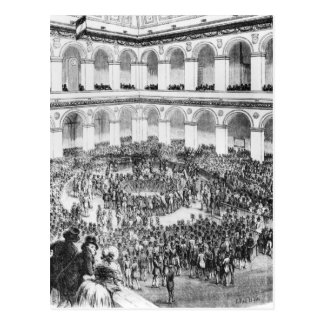 At the Paris Bourse, 1846 Post Card