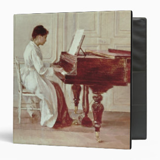 At the Piano, 1887 (oil on canvas) 3 Ring Binder