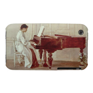 At the Piano, 1887 (oil on canvas) Case-Mate iPhone 3 Cases