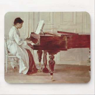 At the Piano, 1887 (oil on canvas) Mouse Pad