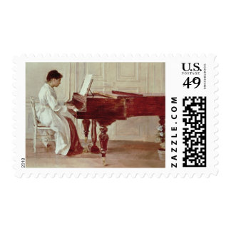 At the Piano, 1887 (oil on canvas) Postage