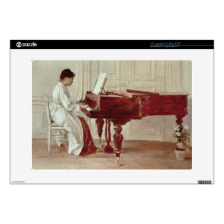 """At the Piano 1887 oil on canvas Decal For 15"""" Laptop"""