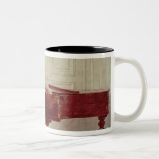At the Piano, 1887 (oil on canvas) Two-Tone Coffee Mug