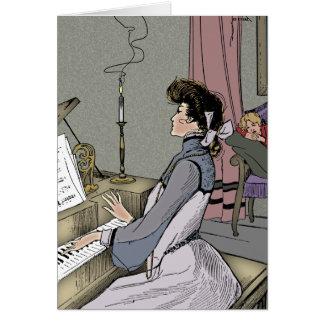 At the Piano Card