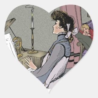 At the Piano Heart Sticker