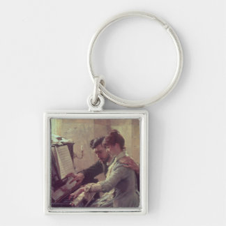 At the Piano Keychain