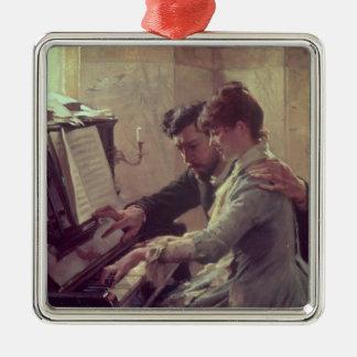 At the Piano Metal Ornament