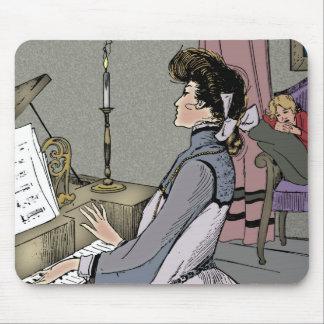 At the Piano Mouse Pad
