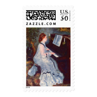At the Piano Postage