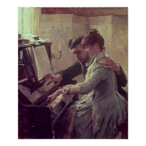 At the Piano Poster