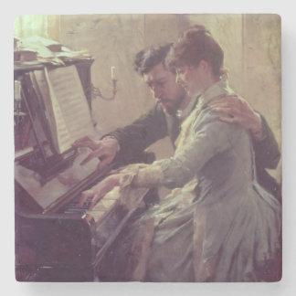 At the Piano Stone Coaster