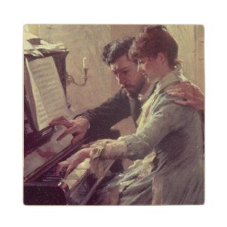 At the Piano Wood Coaster