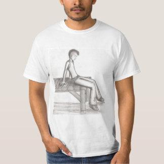 """At The Pier""  Black & White Value T-Shirt"