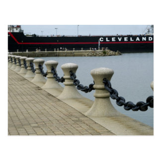 At the Pier in Cleveland Ohio Postcard