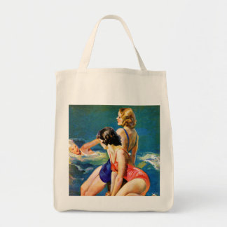At the Pool Grocery Tote Bag