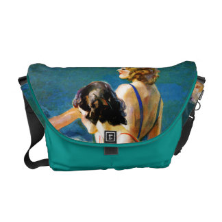 At the Pool Messenger Bags
