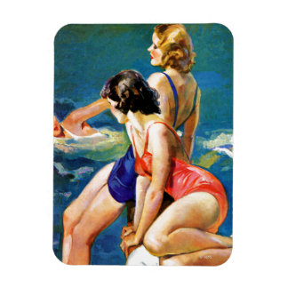 At the Pool Rectangular Photo Magnet