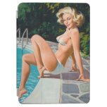 At the pool sexy blonde retro pinup girl iPad air cover