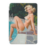 At the pool sexy blonde retro pinup girl iPad mini cover