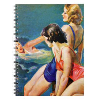 At the Pool Spiral Notebooks