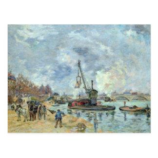 At the Quay de Bercy in Paris, 1874 Postcard