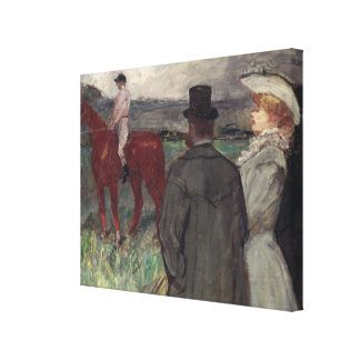 At the Racecourse, 1899 Canvas Print