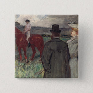 At the Racecourse, 1899 Pinback Button