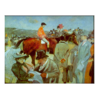 At the Races by Jean-Louis Forain Poster