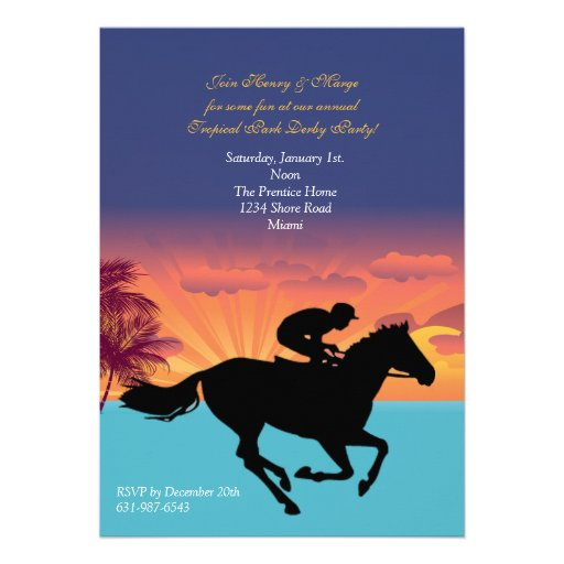 At the Races Invitation