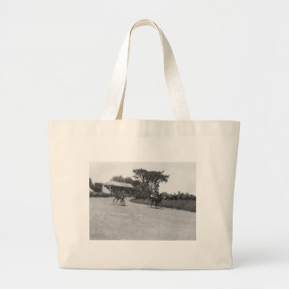 At the Races Large Tote Bag