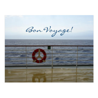 At the Railing Custom Bon Voyage Postcard
