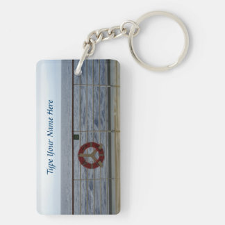 At the Railing DSRK1P Personalized Keychain
