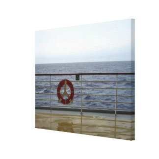 At the Railing of a Cruise Ship Canvas Print