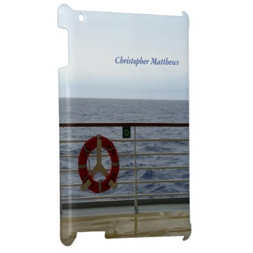 Ocean Themed At the Railing Personalized iPad Cases
