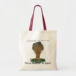 At the reception, a horrifying thought crossed tote bag