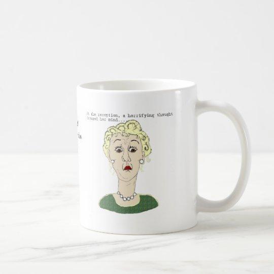 At the reception... coffee mug