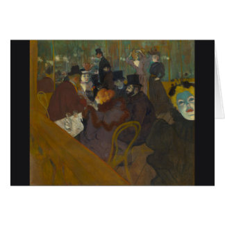 At the Rouge by Henri de Toulouse-Lautrec Card