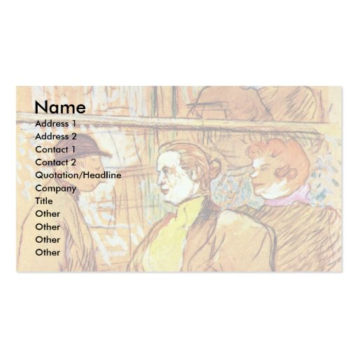 At The Rouge By Toulouse-Lautrec Henri De Business Card Template