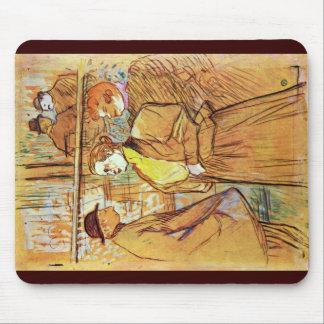 At The Rouge By Toulouse-Lautrec Henri De Mousepads