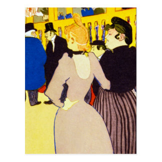 At the Rouge by Toulouse-Lautrec Post Cards