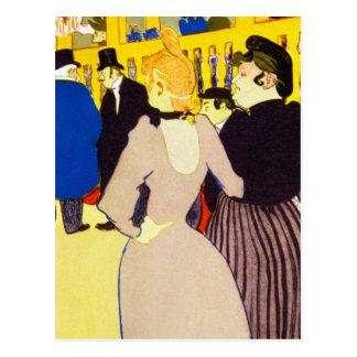 At the Rouge by Toulouse-Lautrec Postcard
