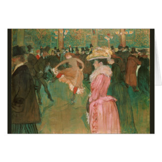 At the Rouge: The Dance by Toulouse-Lautrec Card