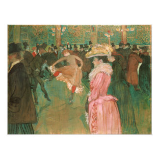 At the Rouge: The Dance by Toulouse-Lautrec Art Photo
