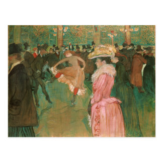 At the Rouge: The Dance by Toulouse-Lautrec Postcard