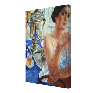 At the Samovar, 1926 Gallery Wrapped Canvas